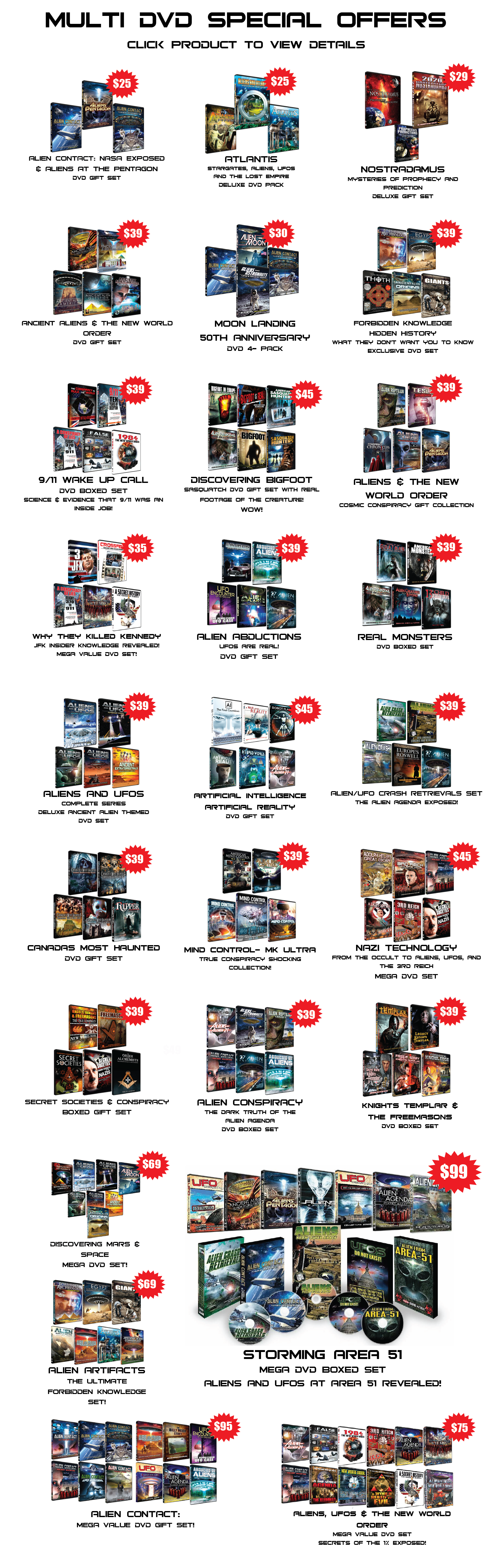 MULTI DVD SPECIAL OFFERS!